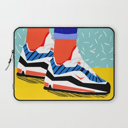 Super Fire - retro sneakers, throwback, memphis, fashion, shoes, sneakers, Laptop Sleeve