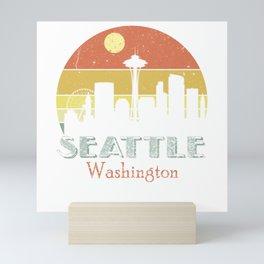 Washington Seattle Vintage City Mini Art Print