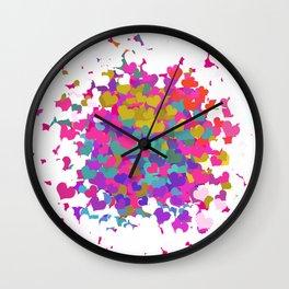 Heart leaf colorful Wall Clock