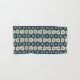 Blue Floral Japanese Pattern Hand & Bath Towel