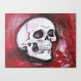 skull in burgundy  Canvas Print