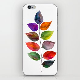 Autumn leaves (ditsy) iPhone Skin