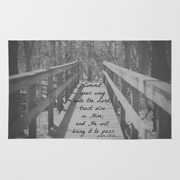 Psalm 37:5 Commit Rug