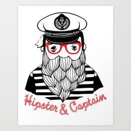 Captain & Hipster Art Print