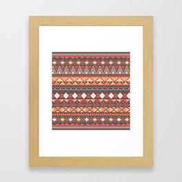 Aztec tribal pattern in stripes, vector illustration Framed Art Print