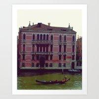 Gondola. Art Print