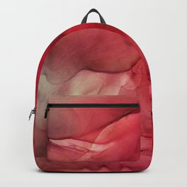 Red Pink Magenta Flow Abstract Ink Painting Backpack