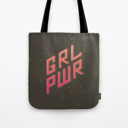 GRL PWR: Girl Power! Dark background Tote Bag