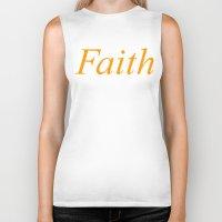 faith Biker Tanks featuring Faith by DropBass