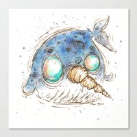 narwhal Canvas Prints featuring Narwhal by Morgan Ofsharick - meoillustration