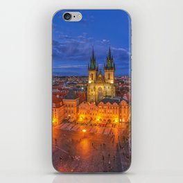 Prague old town square iPhone Skin