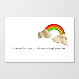 rainbows & poops Canvas Print