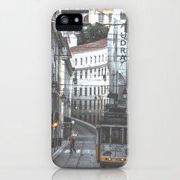 Lisbon Street Tram iPhone Case