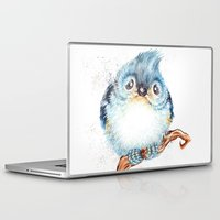 baby Laptop & iPad Skins featuring Baby titmouse by Patrizia Ambrosini