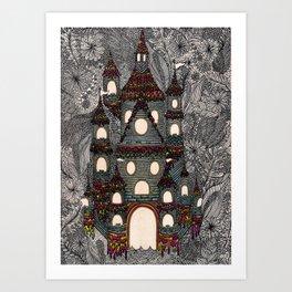 Cosmic Castle  Art Print