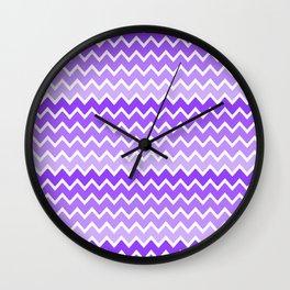 Purple Lavender Lilac Ombre Chevron Wall Clock