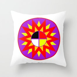 Burst Design Throw Pillow