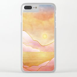 landscape in pastels Clear iPhone Case