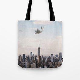 Falling-New York City Skyline Tote Bag