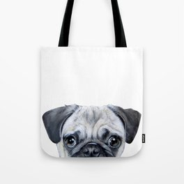 pug Dog illustration original painting print Tote Bag