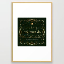 Stolen Songbird Quote Framed Art Print