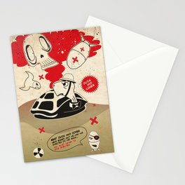 Duck and Cover Propaganda  Stationery Cards