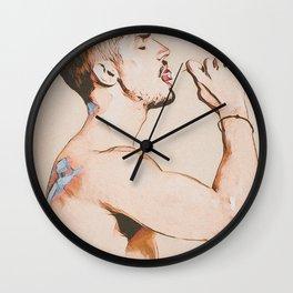 Sucking and Licking Wall Clock