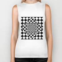 chess Biker Tanks featuring Chess Board by Cs025