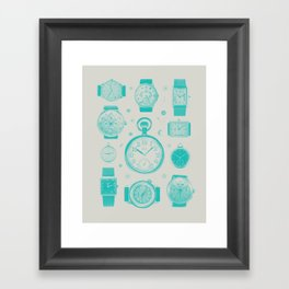 Blue version Framed Art Print