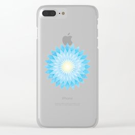 Lotus Flower Mandala Clear iPhone Case