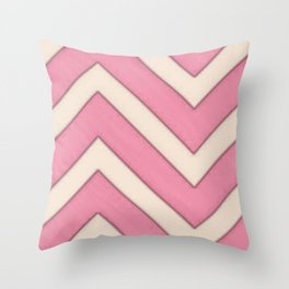 Strawberrys and cream Throw Pillow