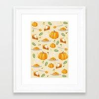 pumpkin Framed Art Prints featuring pumpkin by Ceren Aksu Dikenci