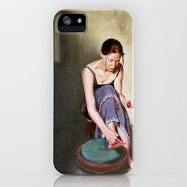 Painting Toenails iPhone Case