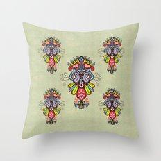 Harmony birds Throw Pillow