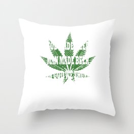 God Made Weed Cbd Lover Gift  Throw Pillow