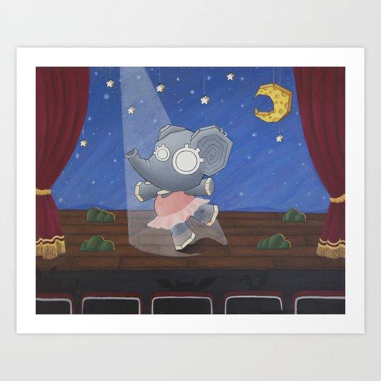 Elephants Can't Jump Art Print