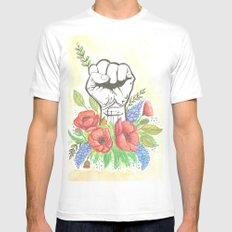 Thanks a bunch MEDIUM White Mens Fitted Tee