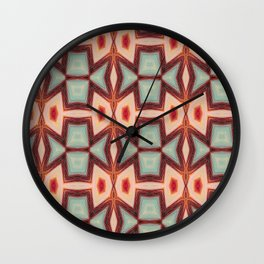 Fish kissing Pattern Art Wall Clock