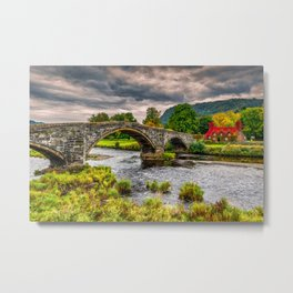 Llanrwst Bridge Autumn Metal Print