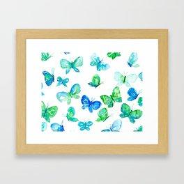 Butterflies in Flight Framed Art Print