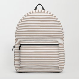 Skinny Stroke Horizontal Nude on Off White Backpack