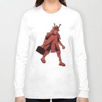 samurai Long Sleeve T-shirts featuring Samurai by edusá studio