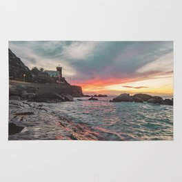 Orographic waves at sunset Rug