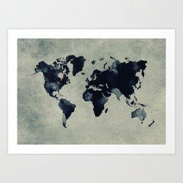 map world map 60 Art Print