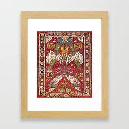 Dragon Sumakh Kuba East Caucasus Rug Print Framed Art Print