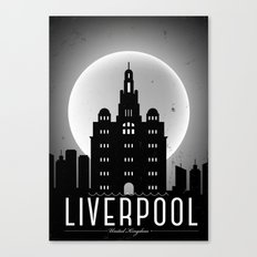 Night at Liverpool Poster Canvas Print