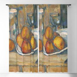 Still Life with Milk Jug and Fruit (ca 1900) by Paul Cezanne Blackout Curtain