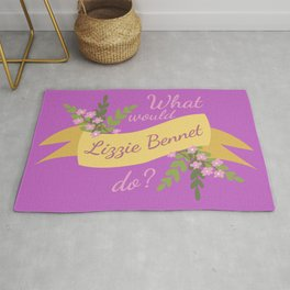 What Would Lizzie Bennet Do? II Rug
