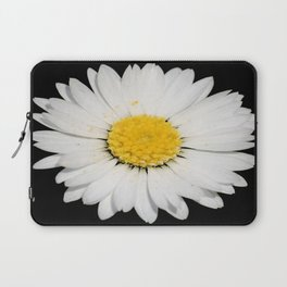 Nine Common Daisies Isolated on A Black Backgound Laptop Sleeve