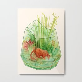 Tigerrarium Metal Print